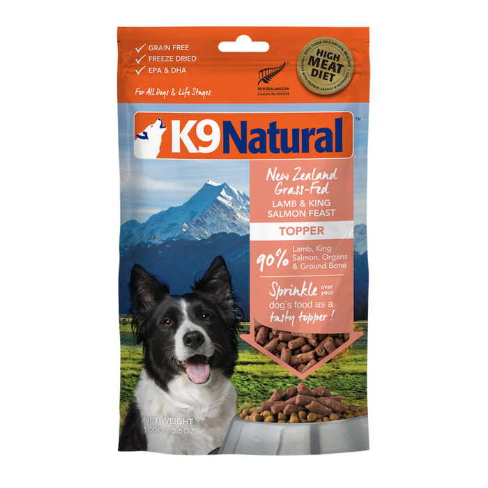 K9 Natural Dog Freeze Dried Food Lamb & Salmon Topper