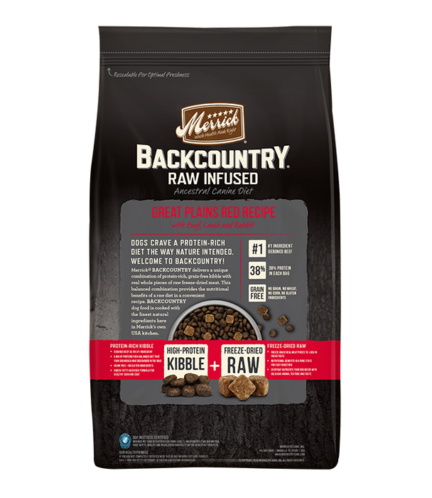 Merrick Backcountry Grain Free Dog Dry Food Great Plains Red Meat
