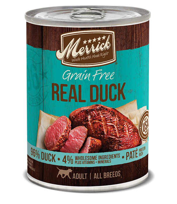 Merrick Classic Grain Free Dog Can Food Real Duck
