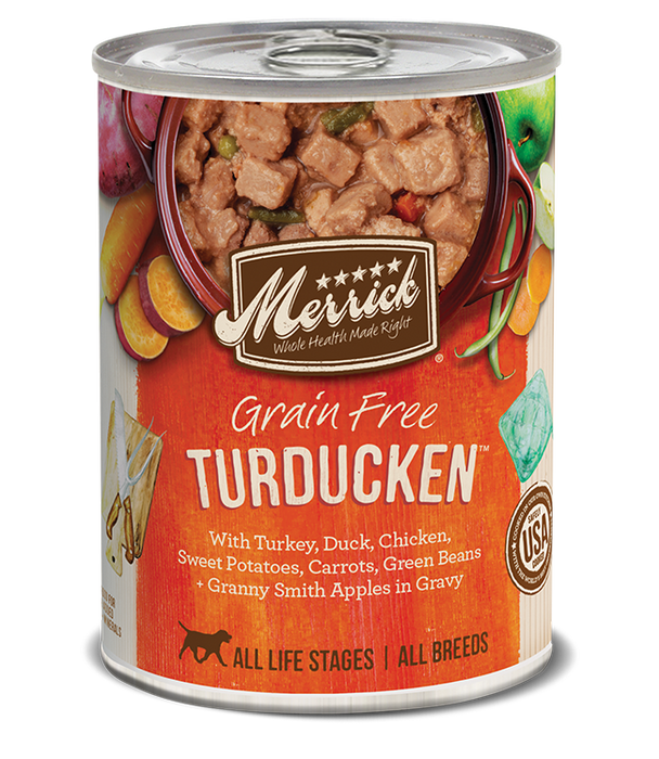 Merrick Classic Grain Free Dog Can Food Turducken