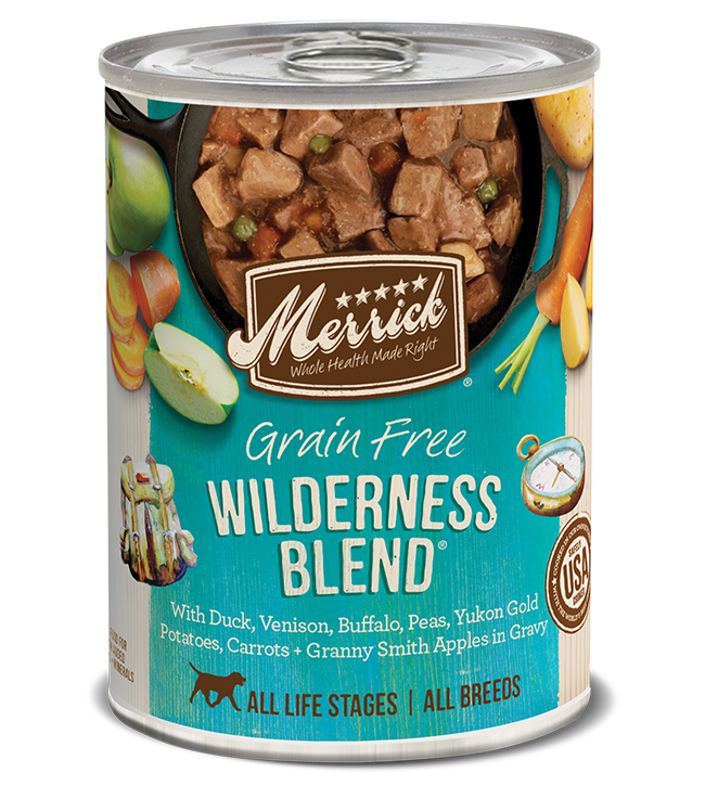 Merrick Classic Grain Free Dog Can Food Wilderness Blend