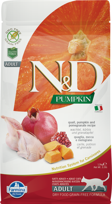 Farmina N&D Pumpkin Grain Free Cat Dry Food Quail & Pomegranate