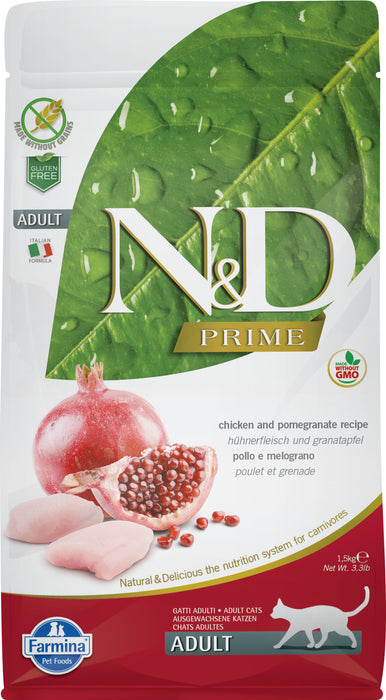 Farmina N&D Prime Grain Free Cat Dry Food Chicken & Pomegranate