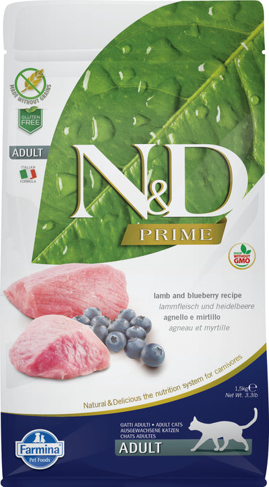 Farmina N&D Prime Grain Free Cat Dry Food Lamb & Blueberry