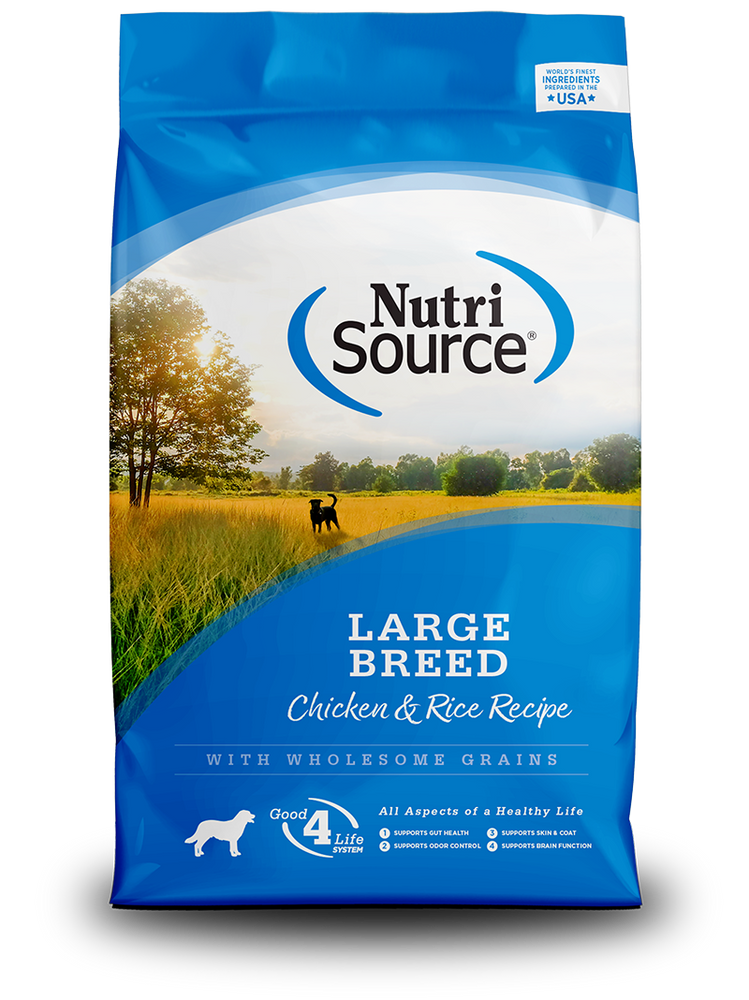 NutriSource Dog Grains Dry Food Chicken & Rice Large Breed Adult, 30lb