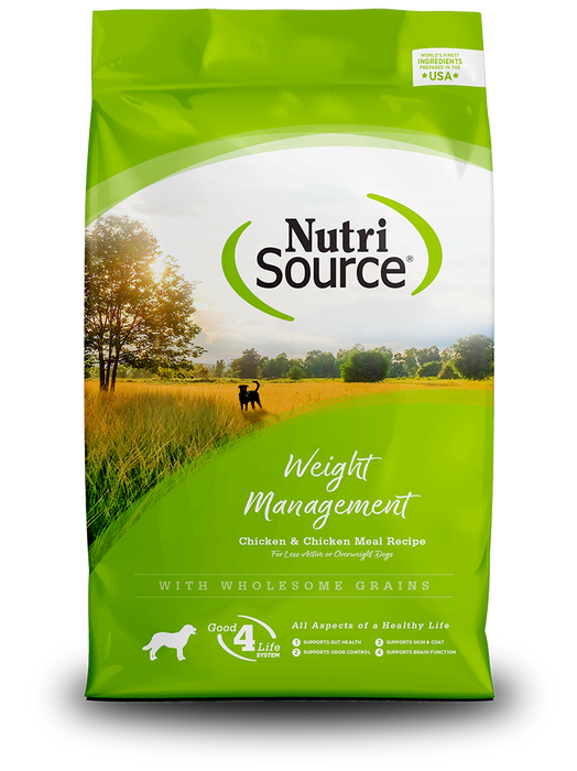 NutriSource Dog Grains Dry Food Weight Management Chicken & Rice