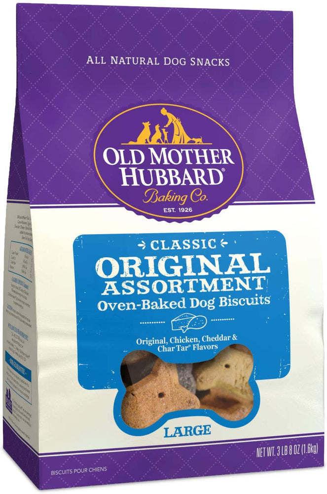 Old Mother Hubbard Classic Crunchy Assorted Dog Treats, Large, 3lb