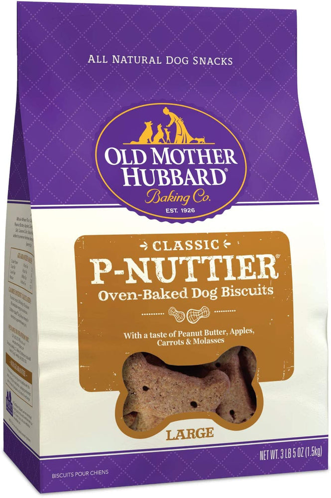 Old Mother Hubbard Classic Crunchy P-Nuttier Dog Treats, Large, 3lb