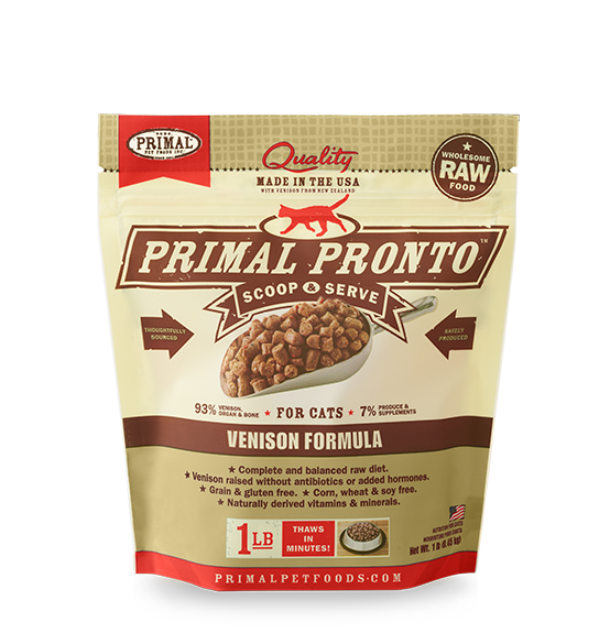 Primal Cat Frozen Raw Food Pronto Bites Venison