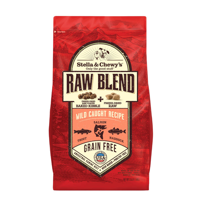 Stella & Chewy's Raw Blend Grain Free Dog Dry Food Wild-Caught Salmon