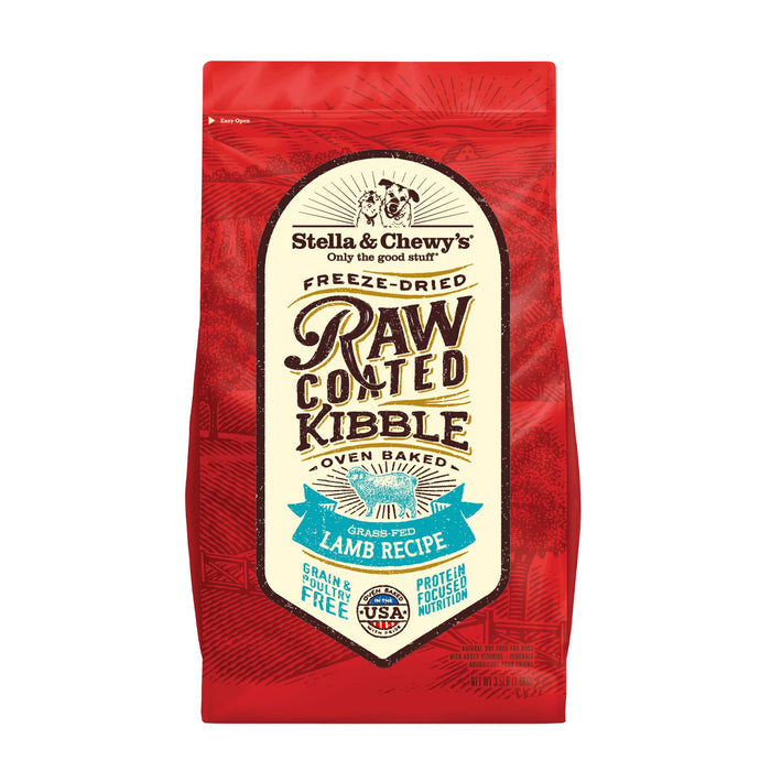 Stella & Chewy's Raw Coated Grain Free Dog Dry Food Grass-Fed Lamb