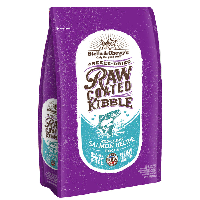 Stella & Chewy's Raw Coated Grain Free Cat Dry Food Wild-Caught Salmon