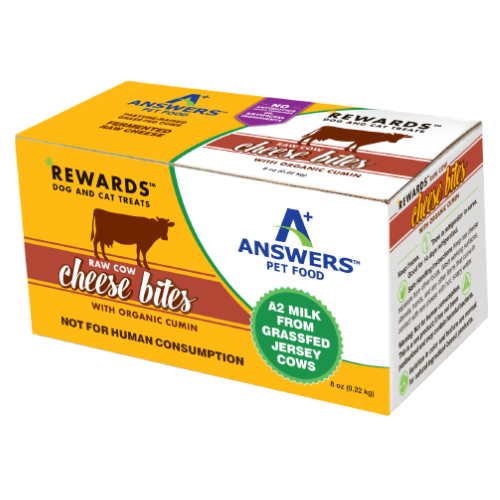 Answers Rewards Frozen Raw Fermented Cow Milk Cheese Treats with Cumin, 8oz