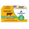 Answers Rewards Frozen Raw Fermented Cow Milk Cheese Treats with Garlic, 8oz