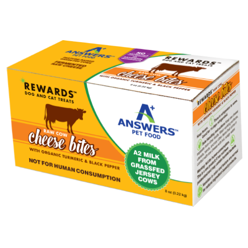 Answers Rewards Frozen Raw Fermented Cow Milk Cheese Treats with Turmeric, 8oz