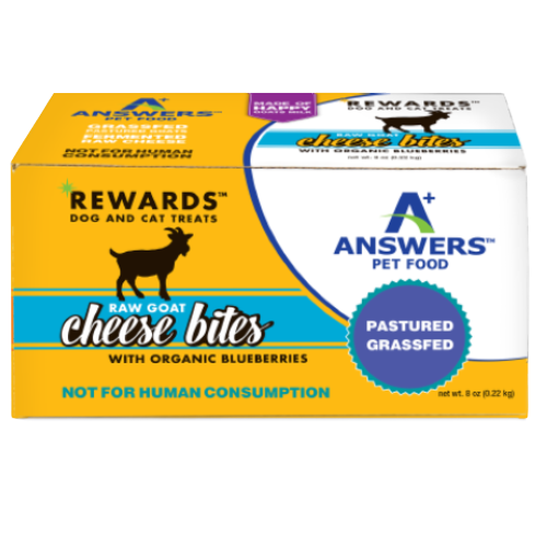 Answers Rewards Frozen Raw Fermented Goat Milk Cheese Treats with Blueberry, 8oz