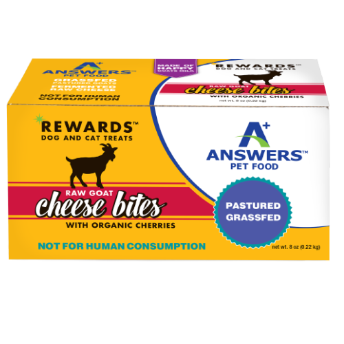 Answers Rewards Frozen Raw Fermented Goat Milk Cheese Treats with Cherry, 8oz