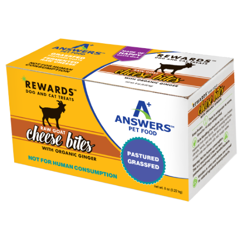 Answers Rewards Frozen Raw Fermented Goat Milk Cheese Treats with Ginger