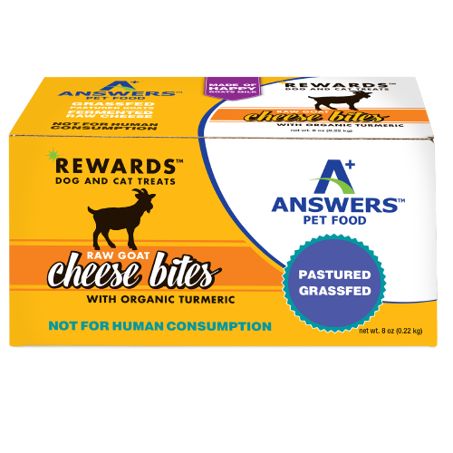 Answers Rewards Frozen Raw Fermented Goat Milk Cheese Treats with Turmeric, 8oz