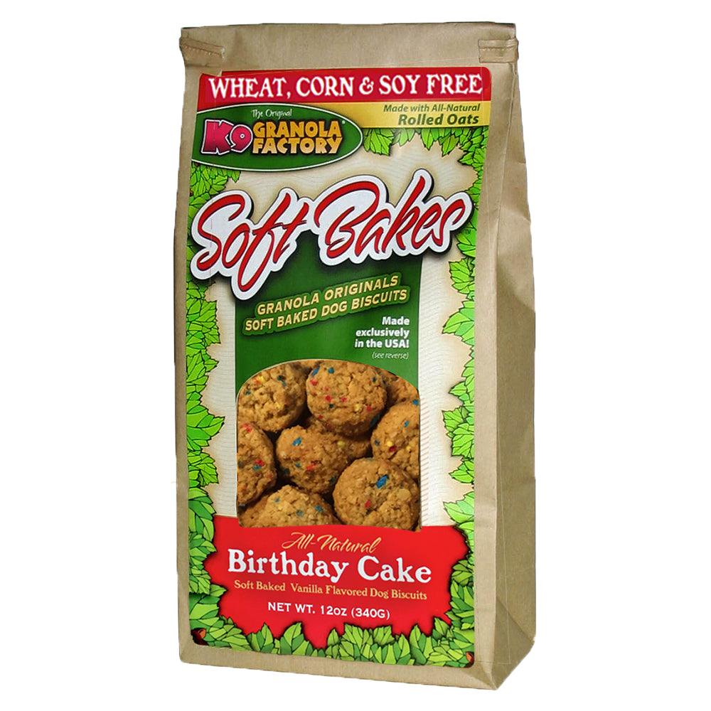 K9 Granola Dog Treats Soft Bakes Birthday Cake