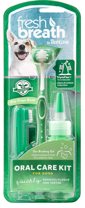 Tropiclean Fresh Breath Dog Oral Care Kit