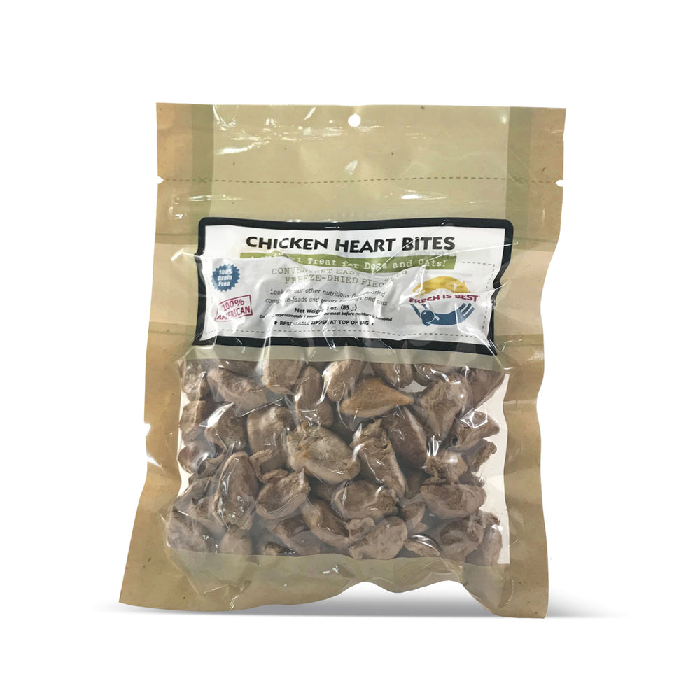 Fresh is Best Treats Chicken Hearts Bites, 3oz