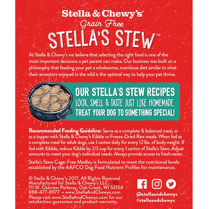 Stella & Chewy's Stew Dog Wet Food Cage-Free Medley 11oz
