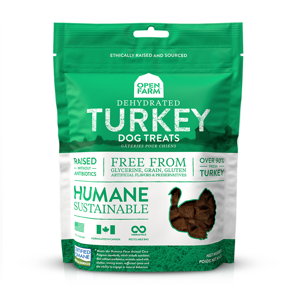 Open Farm Grain Free Dog Treats Turkey, 4.5oz