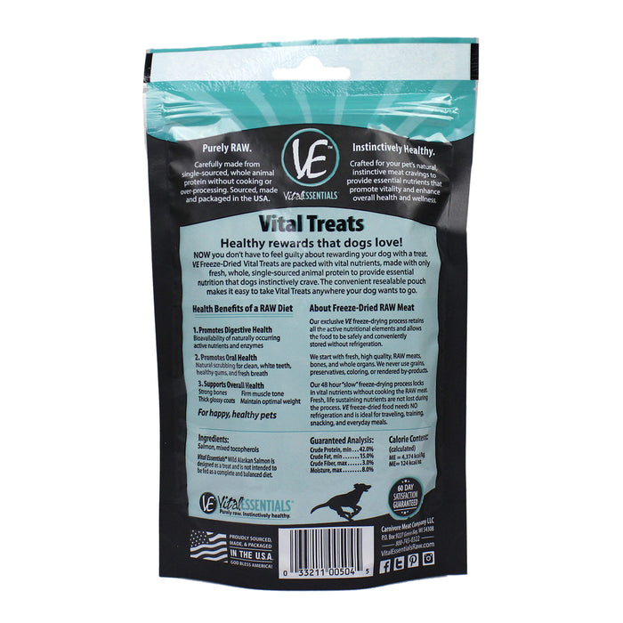 Vital Essentials Dog Treats Alaskan Salmon, 2.5oz