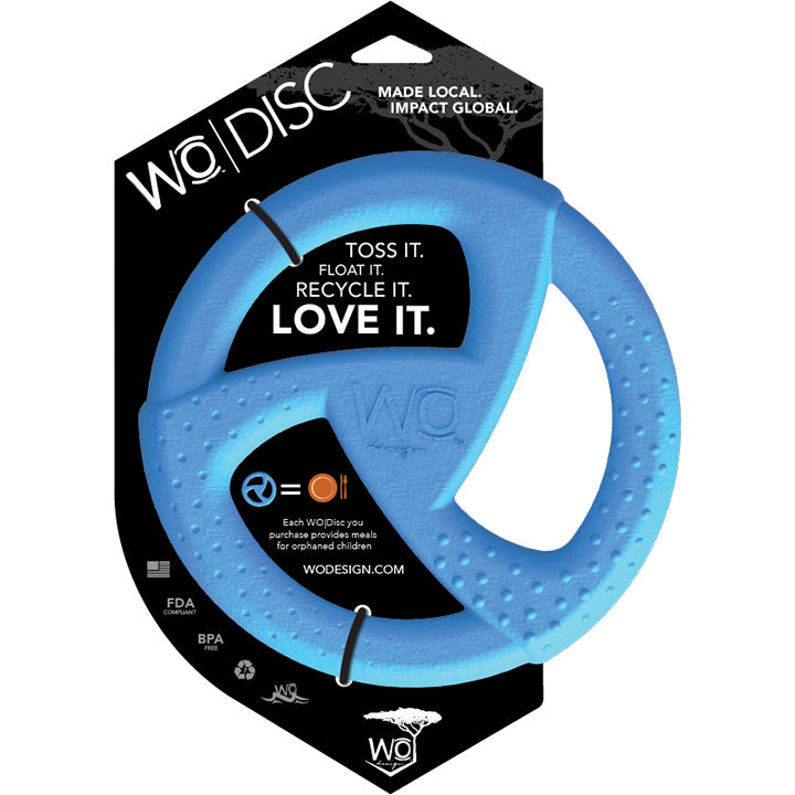 WO Rubber Dog Toy Blue Disc