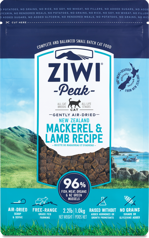 Ziwi Peak Cat Air-Dried Food Mackerel & Lamb