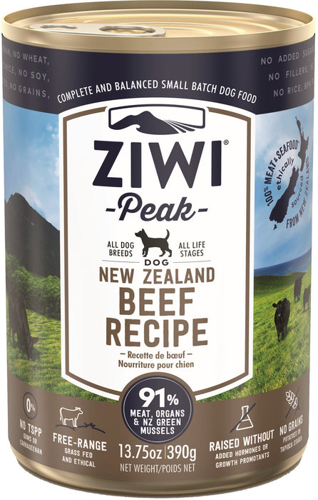 Ziwi Peak Grain Free Dog Can Food Beef