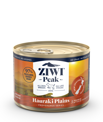 Ziwi Peak New Provenance Dog Can Food Hauraki Plains, 6oz case of 12