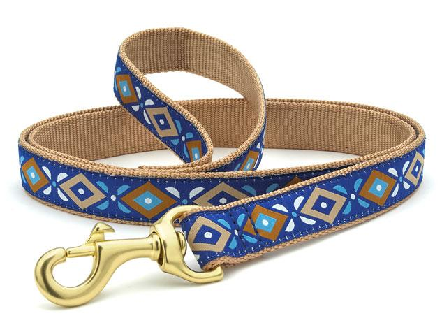 Up Country Dog Leash Aztec Blue