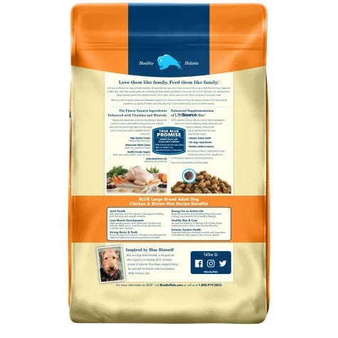 Blue Buffalo Life Protection Dog Grains Dry Food Chicken Large Breed