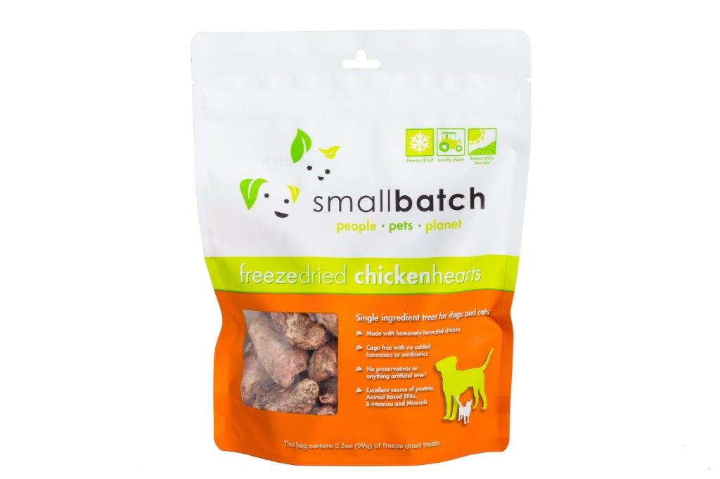 Small Batch Freeze Dried Treats Chicken Hearts, 3.5oz