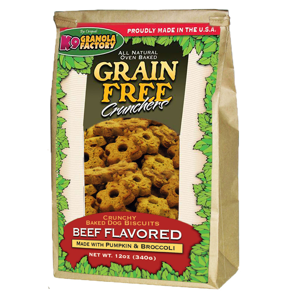K9 Granola Grain Free Crunchers Dried Beef with Pumpkin & Broccoli