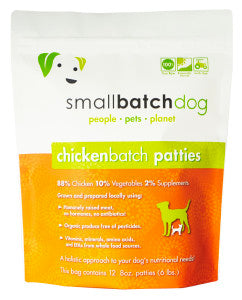 Small Batch Dog Frozen Raw Food Patties Chicken, 6lb