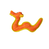VIP Duraforce Dog Toy Orange Dragon Medium