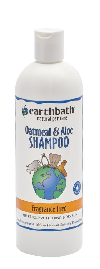 Earthbath Dog Shampoo Oatmeal & Aloe Fragrance Free, 16oz