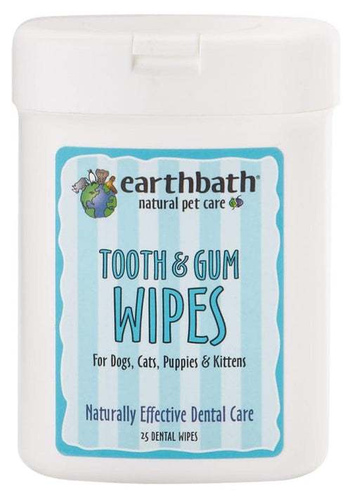 Earthbath Dog Wipes Tooth & Gum, 25ct