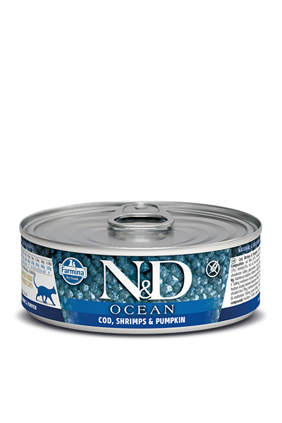 Farmina N&D Ocean Grain Free Cat Can Food Cod, Shrimp, & Pumpkin