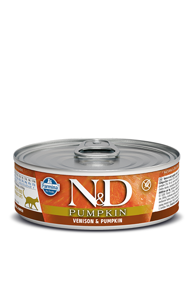 Farmina N&D Pumpkin Grain Free Cat Can Food Venison & Apple
