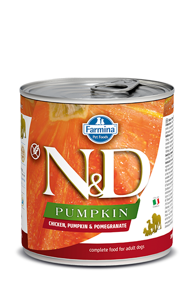 Farmina N&D Pumpkin Grain Free Dog Can Food Chicken & Pomegranate Med/Maxi