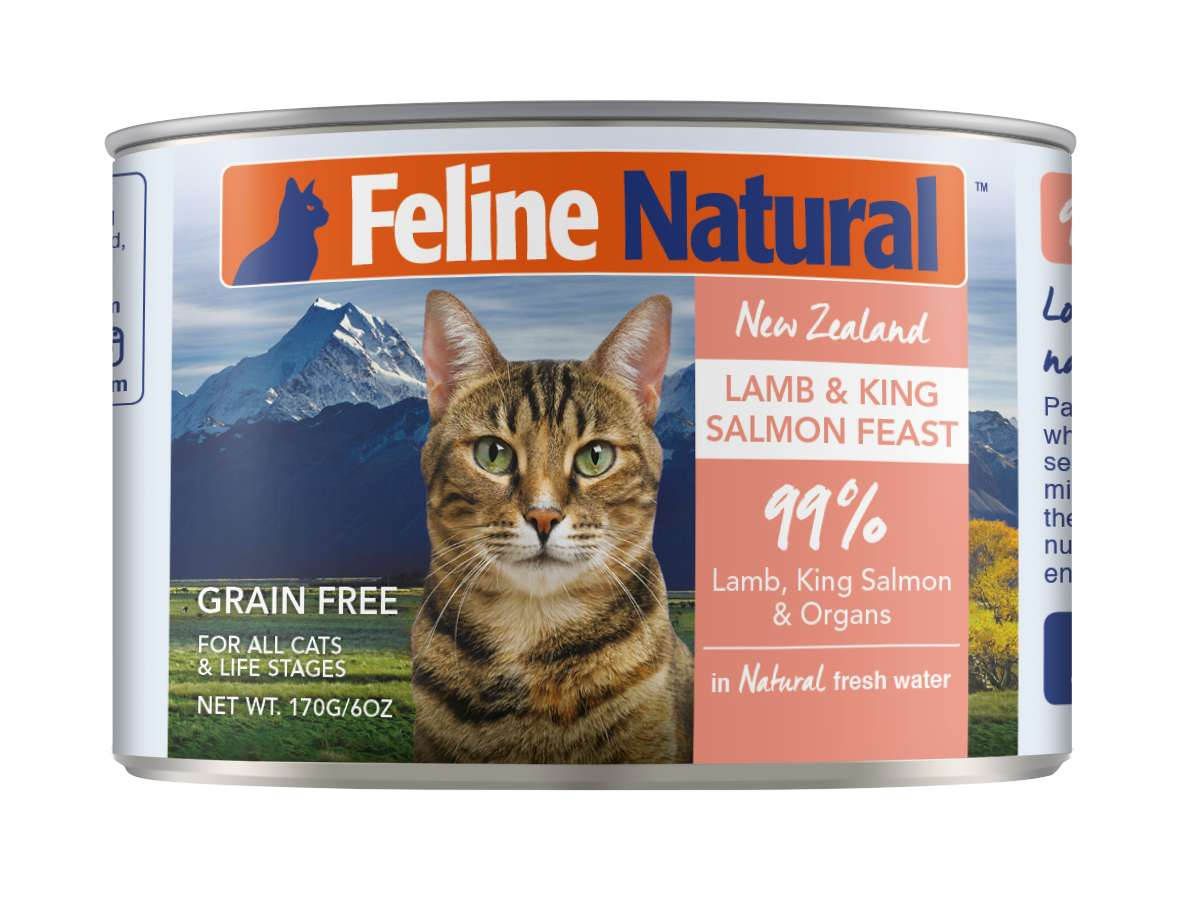 Feline Natural Grain Free Cat Can Food Lamb & Salmon