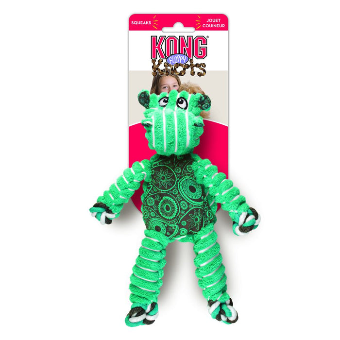 Kong Floppy Knot Hippo Dog Toy