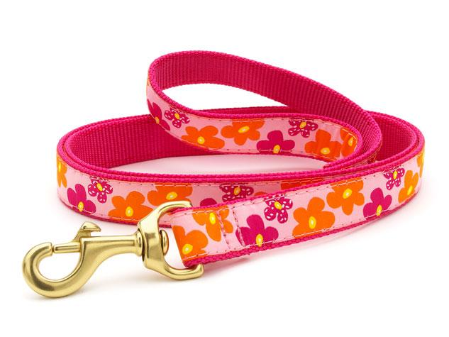 Up Country Dog Leash Flower Power