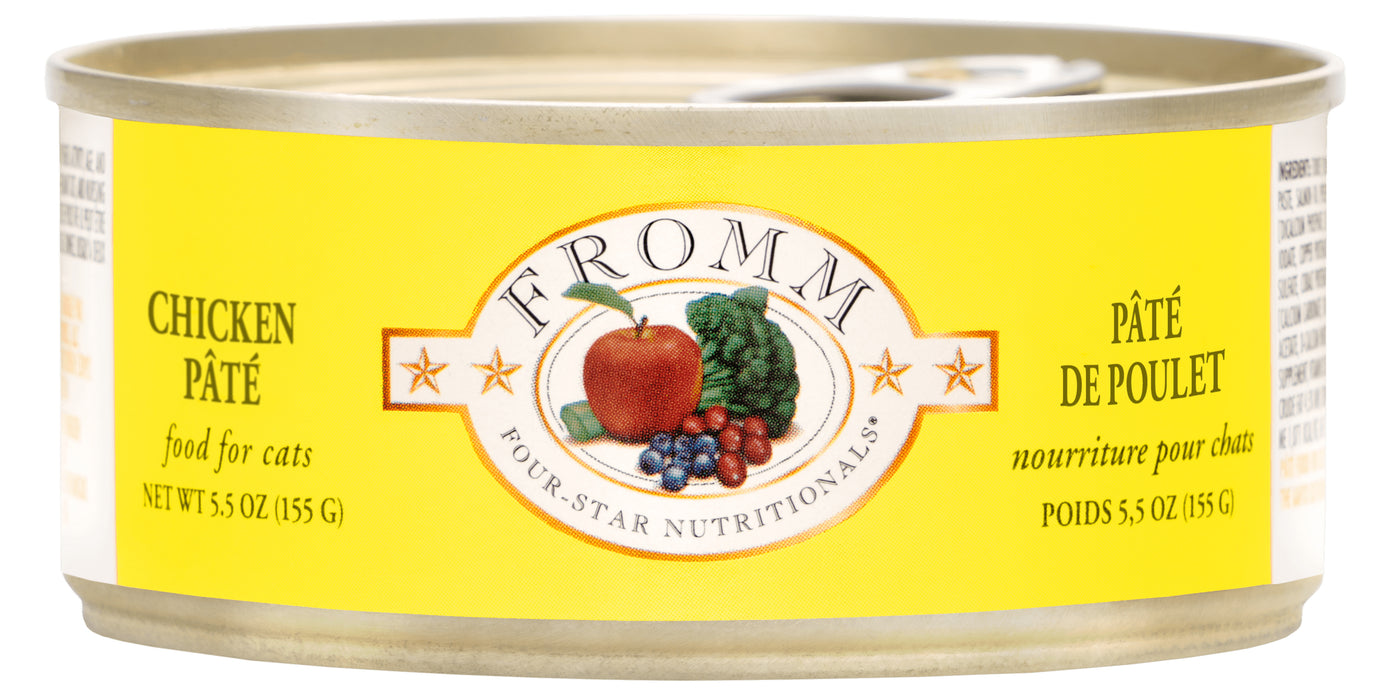 Fromm Four Star Grain Free Cat Can Food, Pate Chicken