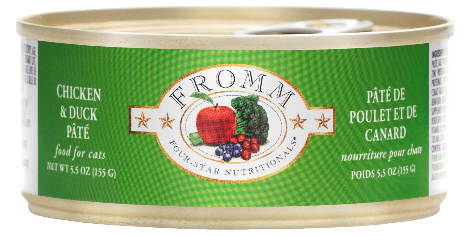 Fromm Four Star Grain Free Cat Can Food, Pate Chicken & Duck
