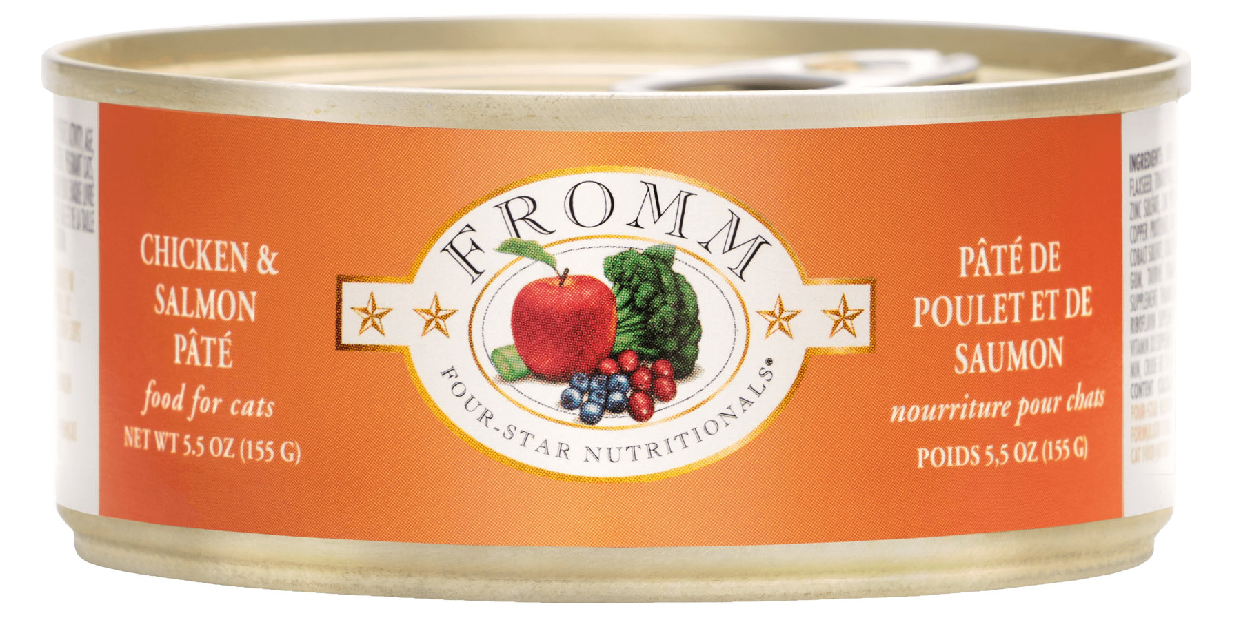 Fromm Four Star Grain Free Cat Can Food, Pate Chicken & Salmon